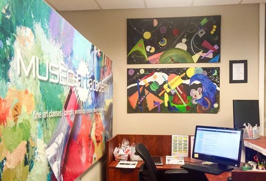 Painting hanging in our office